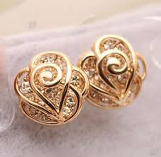 gold earrings tops fashion gold ear tops designs for women buy gold ear tops