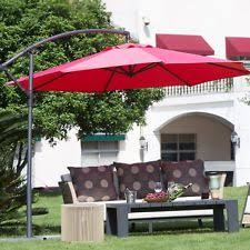 cantilever offset patio umbrella pool shade square yard 10ft