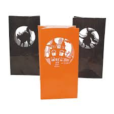 amazon com halloween silhouette luminary bags party decorations