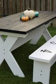 traditional round picnic table with benches out door furniture