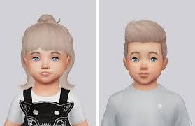 sims 3 custom content hair sims 4 hairs kalewa a toddler s hair pack