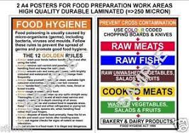 affiches cuisine food hygiene prevent cross contamination kitchen 2 a4
