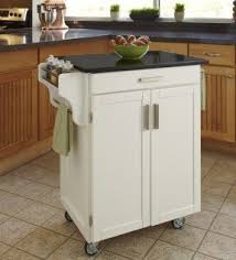 white kitchen cart with granite top foter