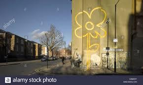 banksy mural pollard street bethnal green london stock photo banksy mural pollard street bethnal green london