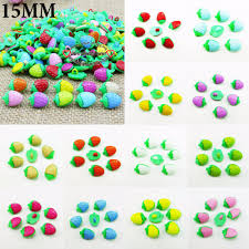 100pcs red strawberry button for kids clothes accessory charms