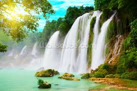 landscape wallpaper wall murals wallsauce waterfall wall mural
