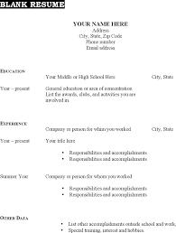 free blank resume templates resume cv format blank resume printable blank