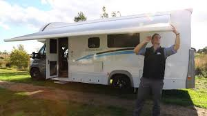 how to setup your jayco motorhome awning youtube