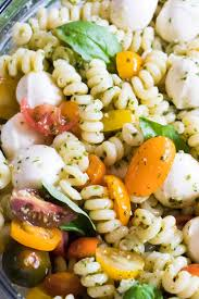 easy pasta salad pesto pasta salad and recipe video house of yumm