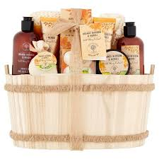 bath gift set the orange tree orange blossom neroli bath gift set in a wooden
