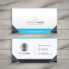 creative business card grey and blue vector free download