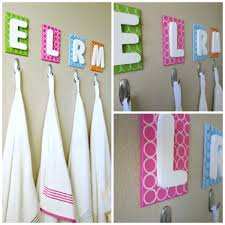 kid u0027s bathroom diy towel rack kid bathrooms canvases and walls