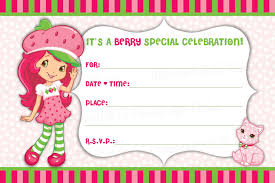 strawberry shortcake invitations cloveranddot com