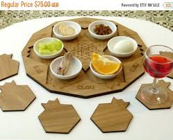 modern seder plate pre passover sale wooden seder plate set of pomegranate shape