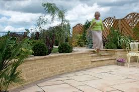 garden walls stone drivesett tegula garden walling marshalls co uk