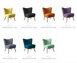 what chair colour for 2015 bute wool vintage cocktail chairs florrie bill
