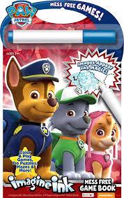 paw patrol mess free game book bendon