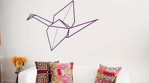 washi tape origami crane wall art martha stewart