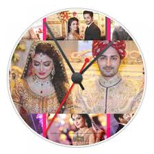 Personalized Clocks With Pictures Buy Personalized Round Wall Clock With Picture And Message In