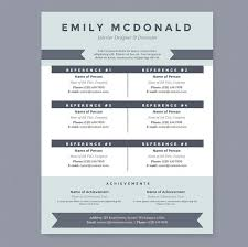 sea blue resume cover letter u0026 references template package