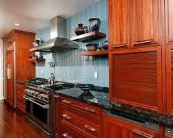 Cherry Cabinets Black Granite Houzz - Backsplash for cherry cabinets