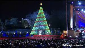 2017 national christmas tree lighting obama family turn out for national christmas tree lighting youtube