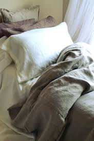 rustic rough natural stonewashed linen quilt cover
