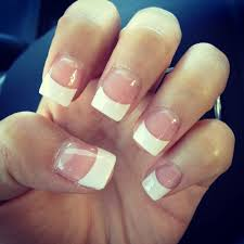 white tip acrylic with gel yelp white tip nails with designs