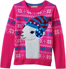light up llama ugly christmas sweater ugly christmas sweaters