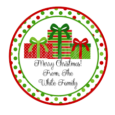 personalized christmas gifts personalized wrapped christmas presents stickers monogrammed