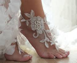 barefoot sandals for wedding ivory wedding barefoot sandals floral lace sandals lace
