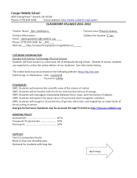 cooper ms syllabus 8th grade science goldsberry final