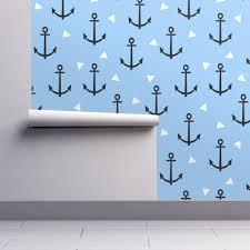 anchor tri triangle blue cute nautical wallpaper by