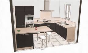 amenagement cuisine en l charmant plan cuisine ouverte et amenagement salle de en u