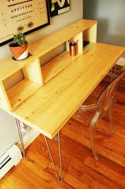 Diy Build A Desk by How To Build A Contemporary Desk With Shelf And Hairpin Legs