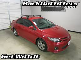 2010 toyota corolla roof rack toyota corolla sedan rhino rack 2500 aero black roof rack 09 13