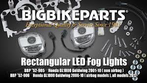 goldwing driving lights reviews rectangular led fog light kit for gl1800 youtube