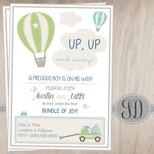 jadidesigns air balloon baby shower invitation