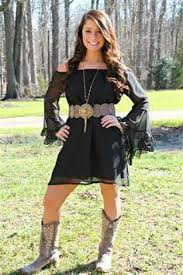 lace dress with boots black or white gчpѕч cσwgírl ѕtчlє