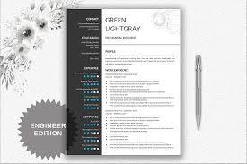 Resume Template For Engineers Resume Cv Template Engineer Resume Templates Creative Market