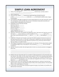 free loan agreement forms pdf template form download