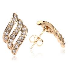 design of gold earrings ear tops 5pcs lot top design light weight simple gold earring designs for