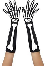 Halloween Skeleton Hands Ladies Long Halloween Skeleton Gloves Escapade Uk