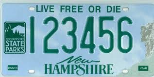 Maine State Vanity Plates The New Hampshire Division Of Parks And Recreation Nh State