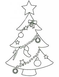 outline of christmas tree christmas lights decoration