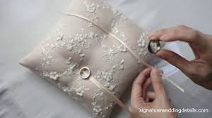 wedding pillow rings attaching wedding ring to your ring pillow part2