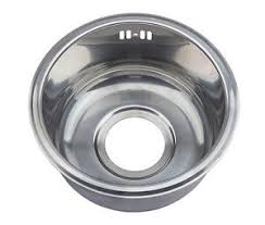 Compact Sink Single  Round Bowl Inset Stainless Steel Boat - Round sinks kitchen