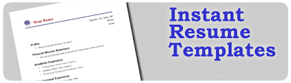 instant resume templates 5 free sources for resume templates vista college
