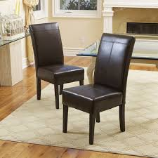 t stitch chocolate brown bonded leather dining chair set of 6 by