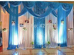 wedding backdrop blue discount blue wedding backdrop wedding drape and curtain wedding